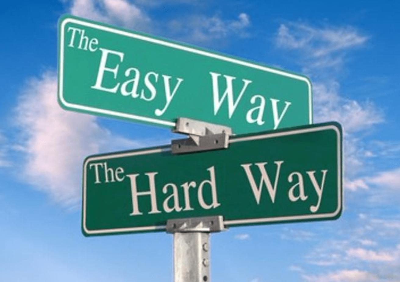 イージーな道とハードな道