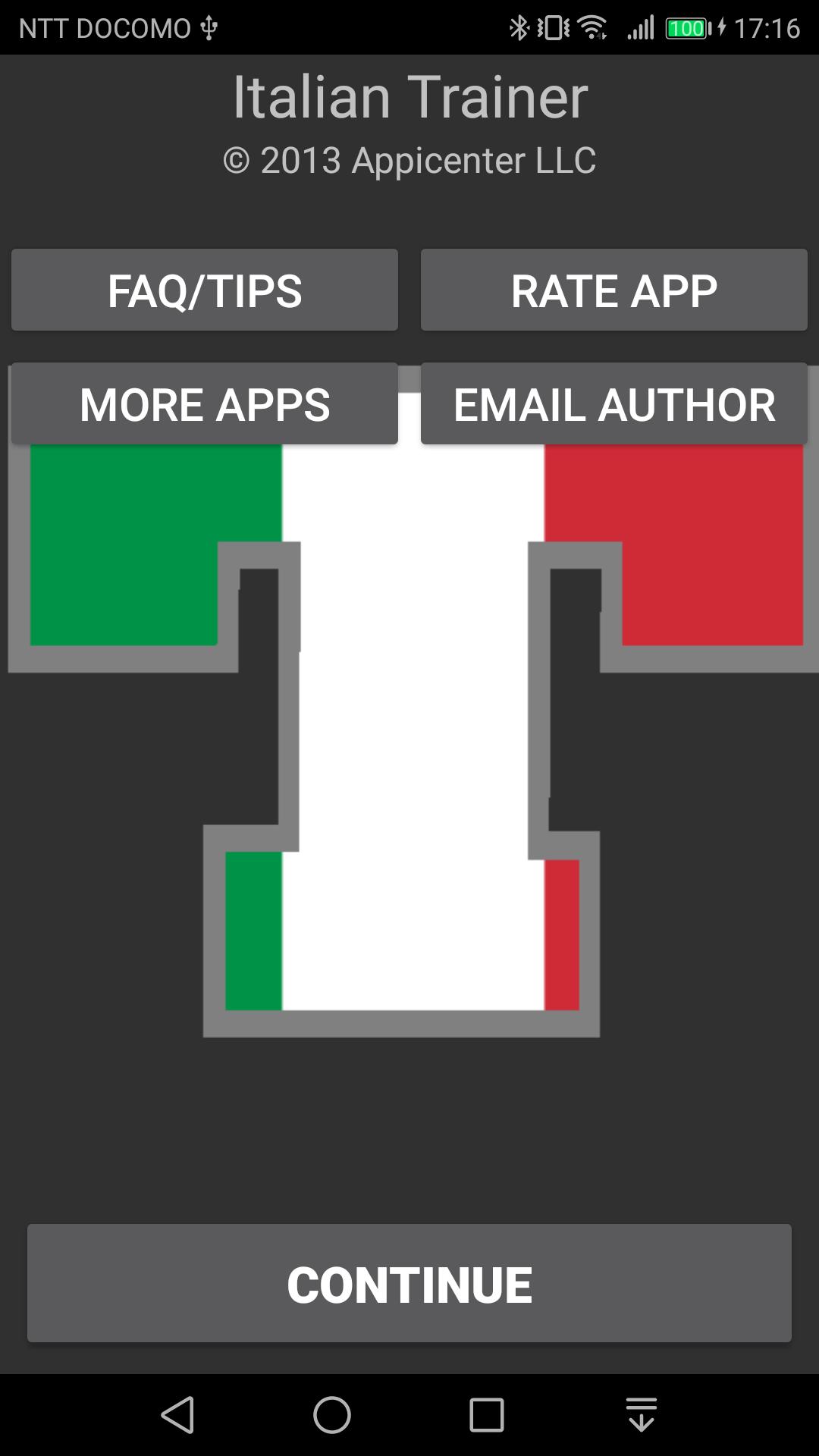 イタリア語動詞活用アプリ