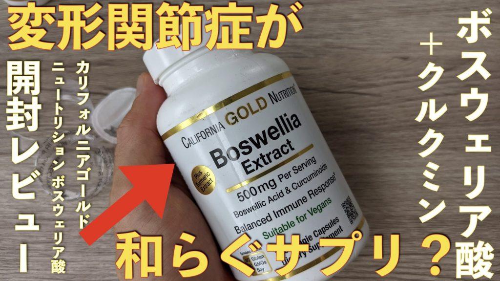 【関節サプリ】ボスウェリア酸をiHerbで買ったので開封レビューサムネイル画像